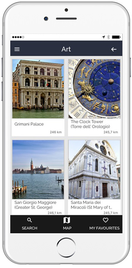 Points of Interest ARTin app Venice