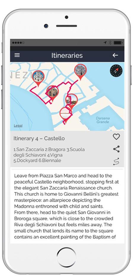 Esempio Itinerario 4 ARTin app VEenziaCastello