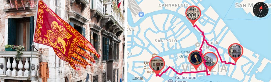 Flag with St.mark Lion Venice - ARTinapp