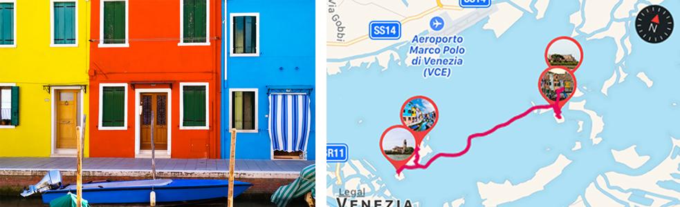 Isola di Burano, dettaglio case, Venezia - ARTin app