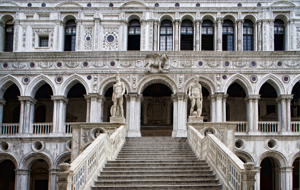The Giants' staircase of Palazzo Ducale