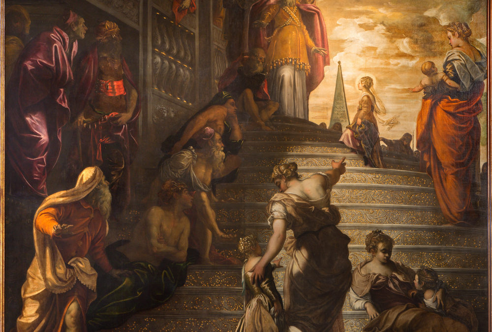 The Presentation of the Virgin Mary at the Temple by Jacopo Tintoretto