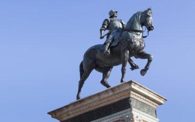 The Bartolomeo Colleoni' s equestrian bronze statue