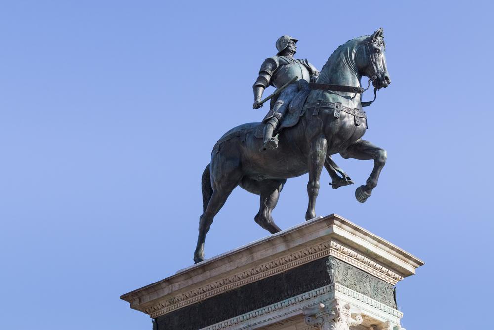 Bronzo equestre di Bartolomeo Colleoni