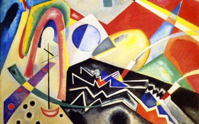 White Zig Zags by Vasilij Kandinskij, 1922 – oil on canvas