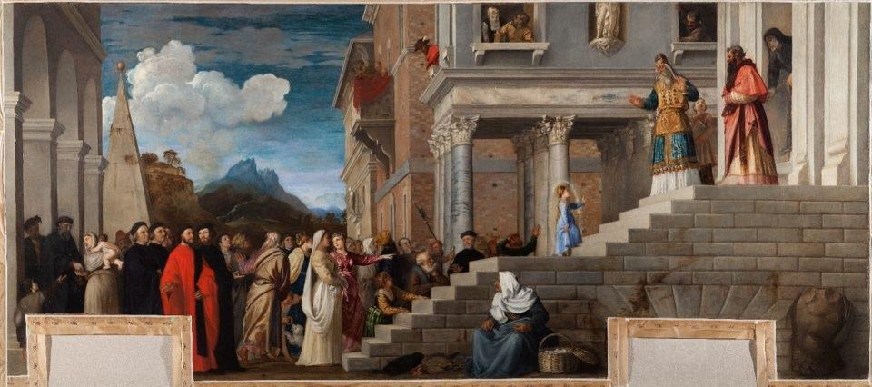La Presentazione della vergine al tempio di Tiziano